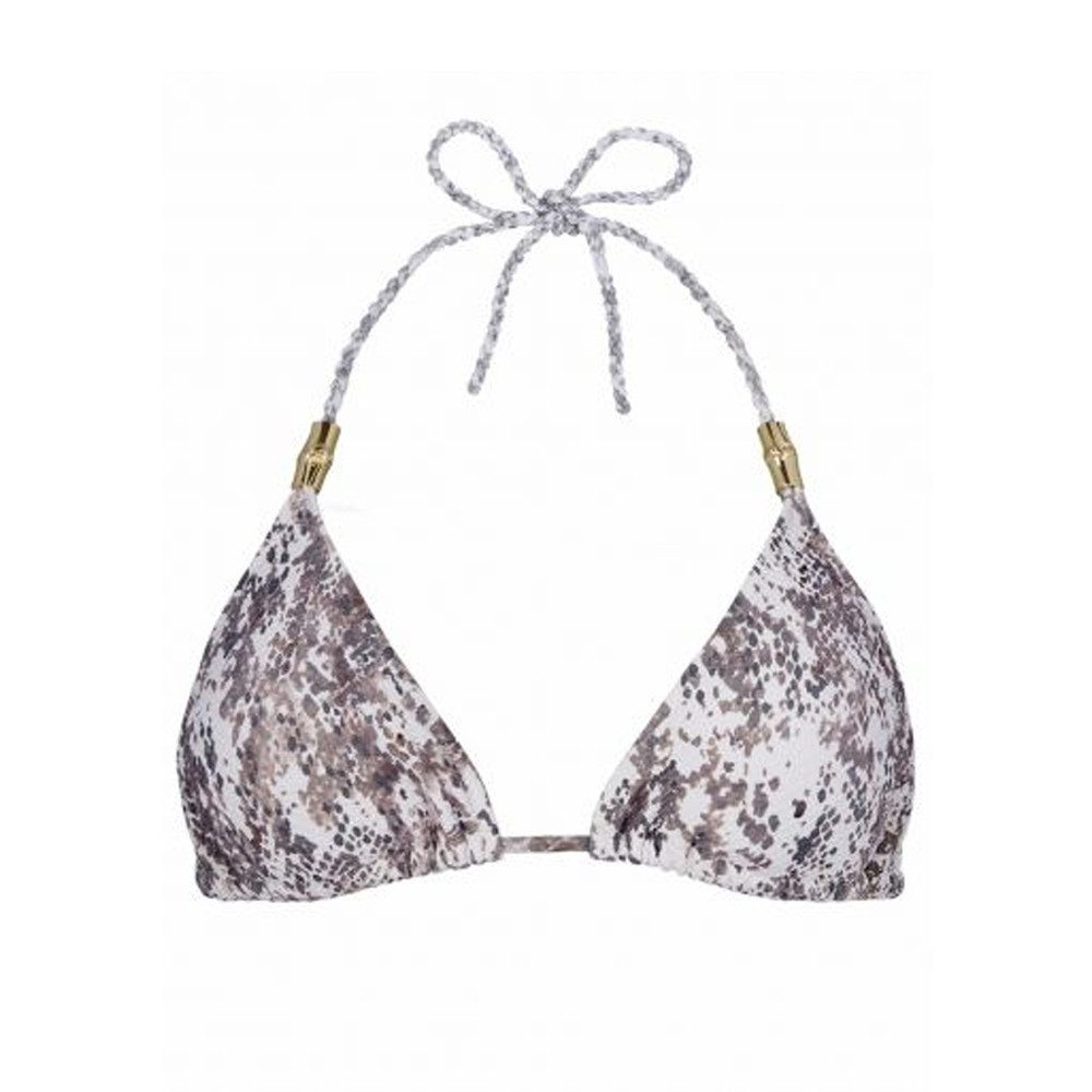 Zanzibar Rope Tie Triangle Bikini Top - Print