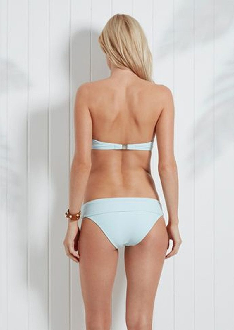 HEIDI KLEIN Milos Pom Pom Bandeau Bikini Top - Sky Blue main image