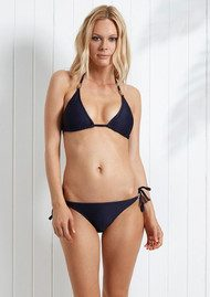 HEIDI KLEIN Hamptons Rope Triangle Bikini Top - Navy