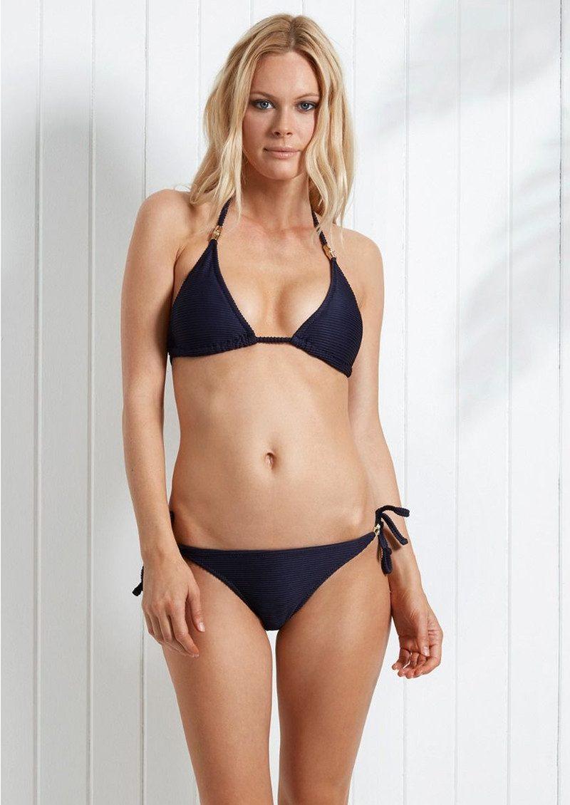 HEIDI KLEIN Hamptons Rope Triangle Bikini Top - Navy main image
