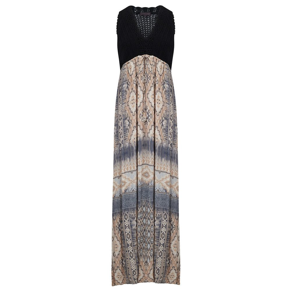 Crochet Maxi dress - Beige