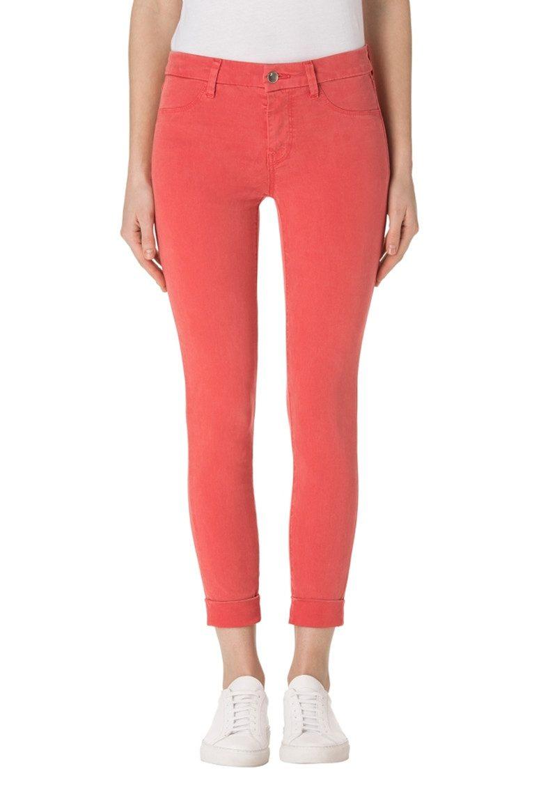J Brand Anja Clean Cuffed Crop Jeans - Roseate main image