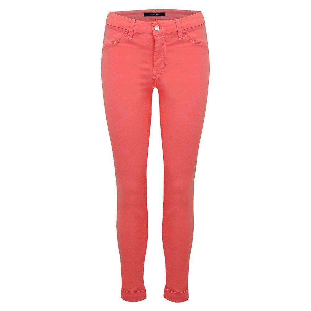 Anja Clean Cuffed Crop Jeans - Roseate