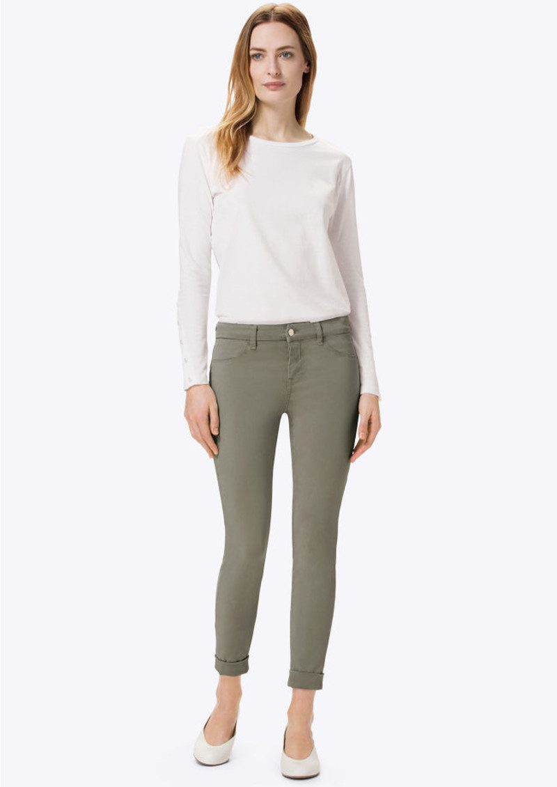 Anja Clean Cuffed Crop Jeans - Castor Grey main image