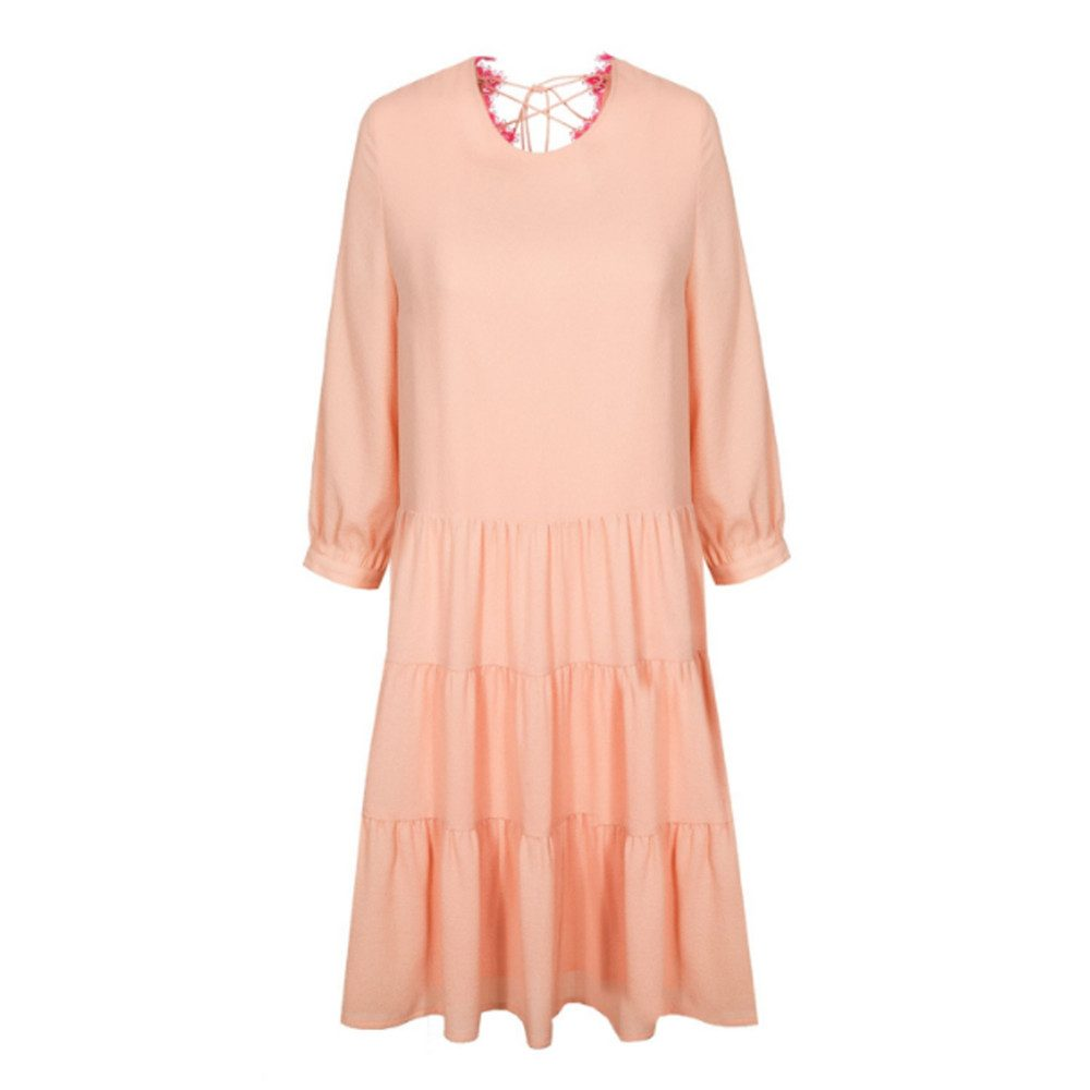 Nanastasia Lace Back Dress - Blush