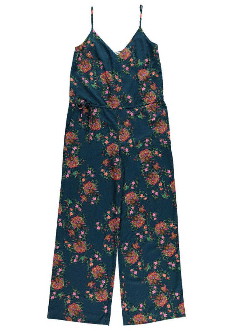 Essentiel Nanama Jumpsuit - Teal Floral main image