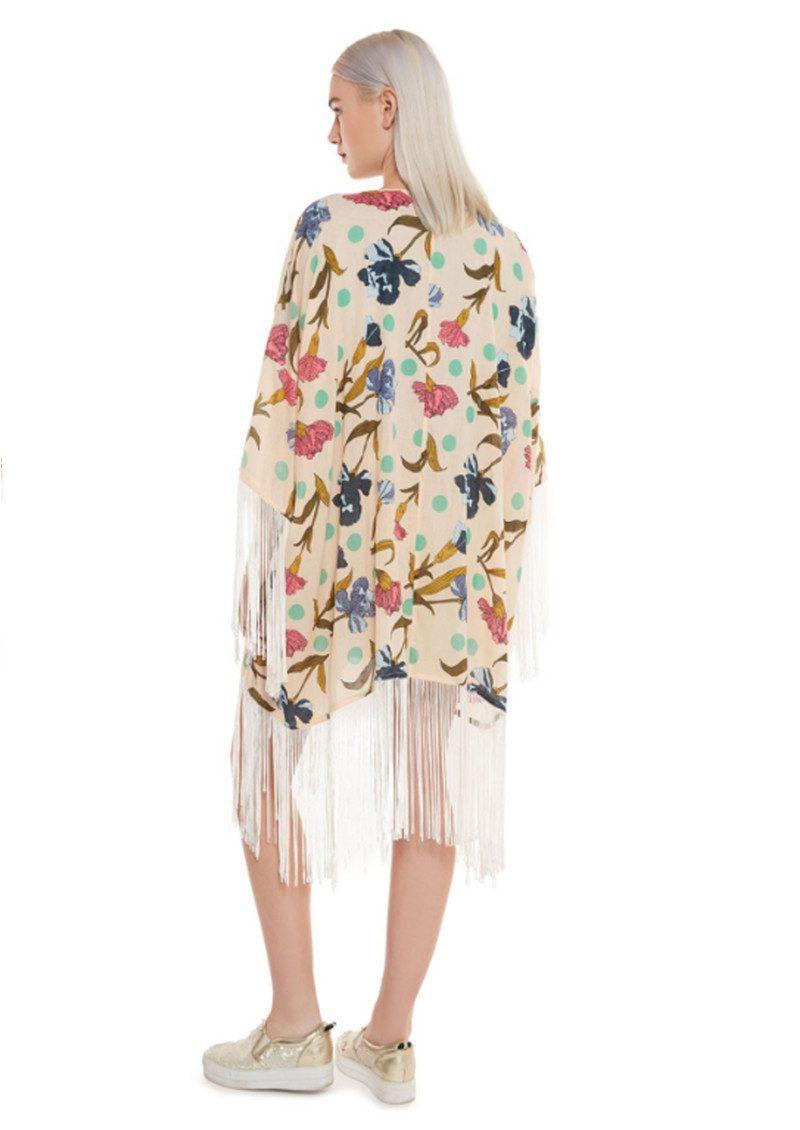Essentiel Nomalinda Fringe Kimono - Print main image