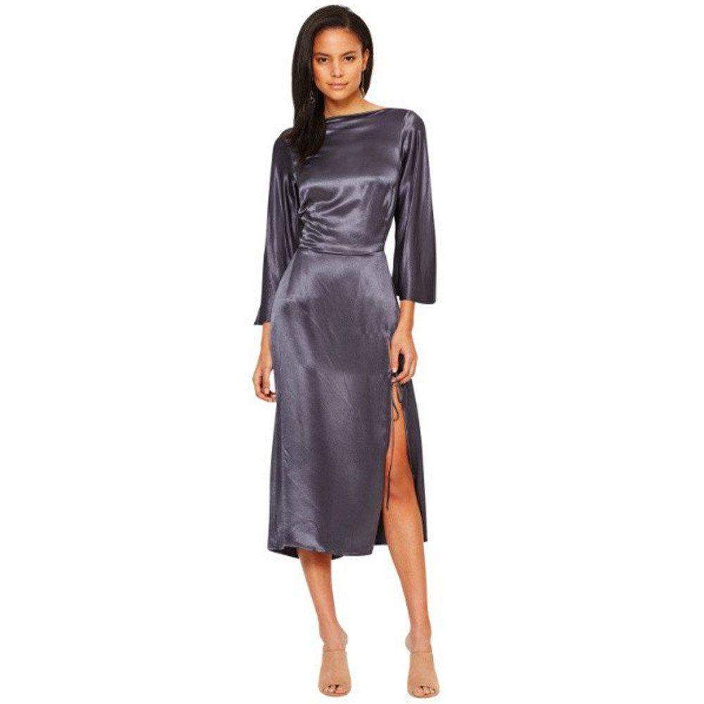 Oil Slick Cowl Dress - Charcoal