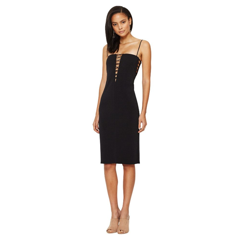 Metamorphic Plunge Dress - Black