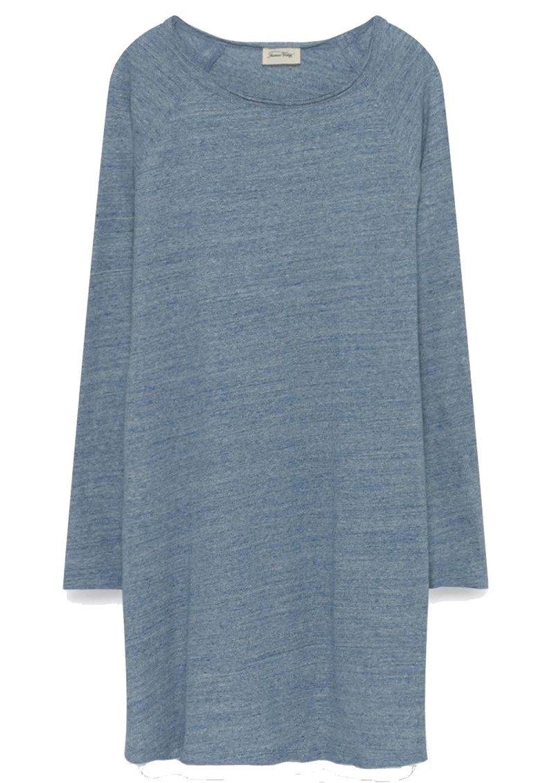 American Vintage Otokay Long Sleeve Dress - Denim Melange main image