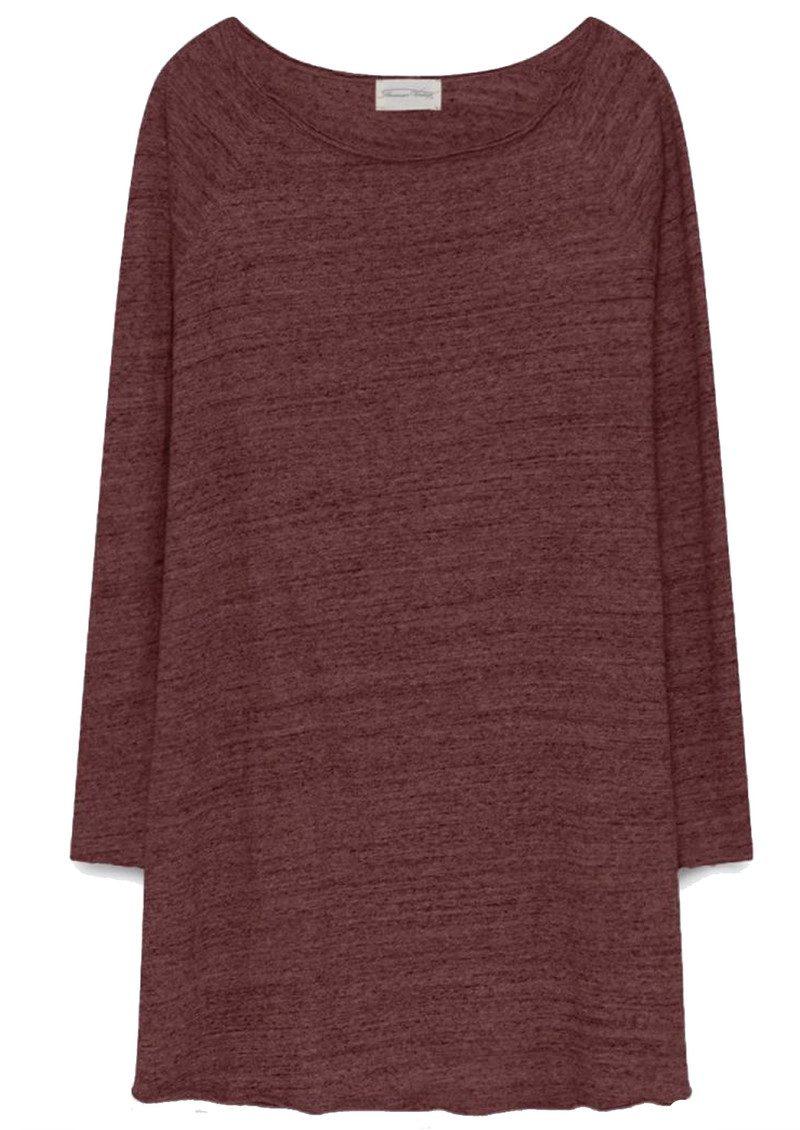 American Vintage Otokay Long Sleeve Dress - Cardinal Melange main image