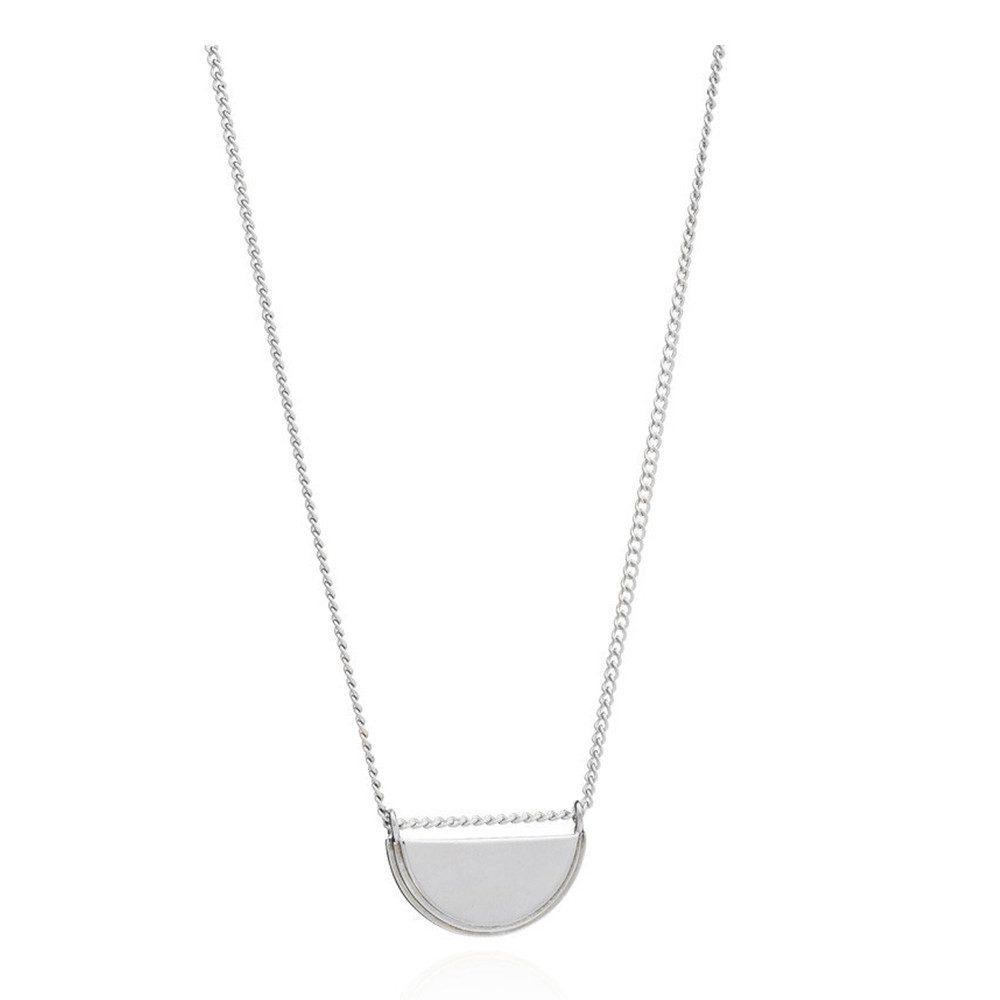Half Moon Necklace - Silver