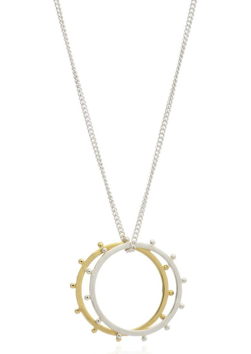 RACHEL JACKSON Punk Rings Necklace - Silver  main image