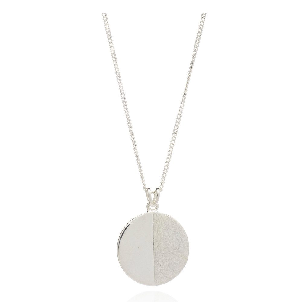 Lunar Moon Necklace - Silver