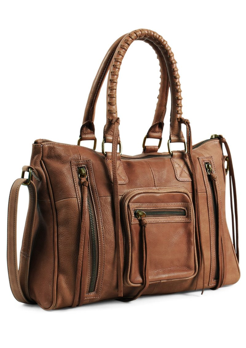 DAY & MOOD Rose Satchel - Cognac main image
