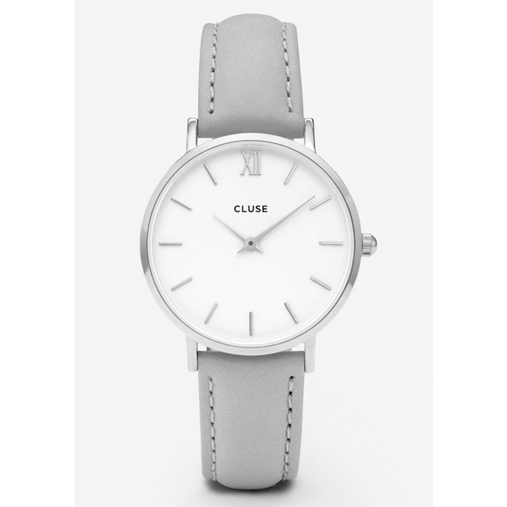Minuit Silver Watch - White & Grey