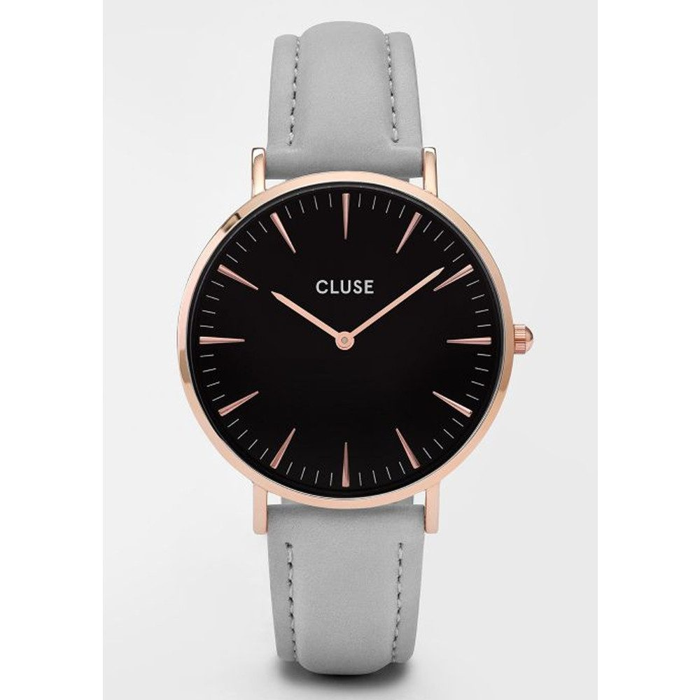 La Boheme Rose Gold Watch - Black & Grey
