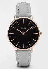 CLUSE La Boheme Rose Gold Watch - Black & Grey