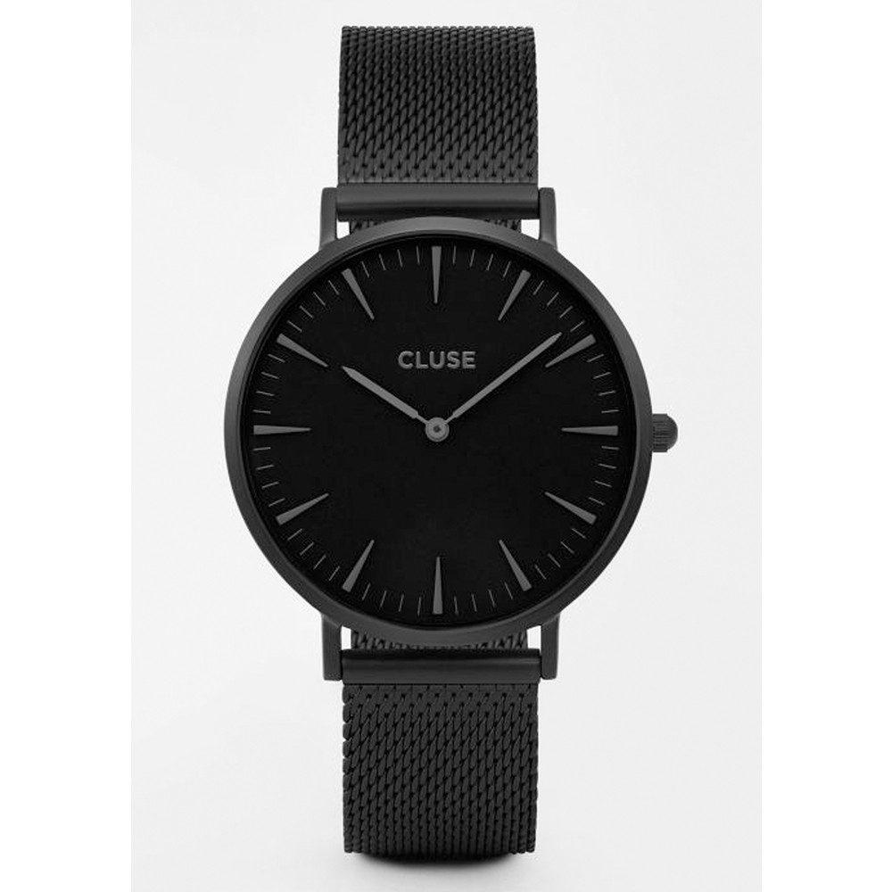 La Boheme Mesh Watch - Black & Black