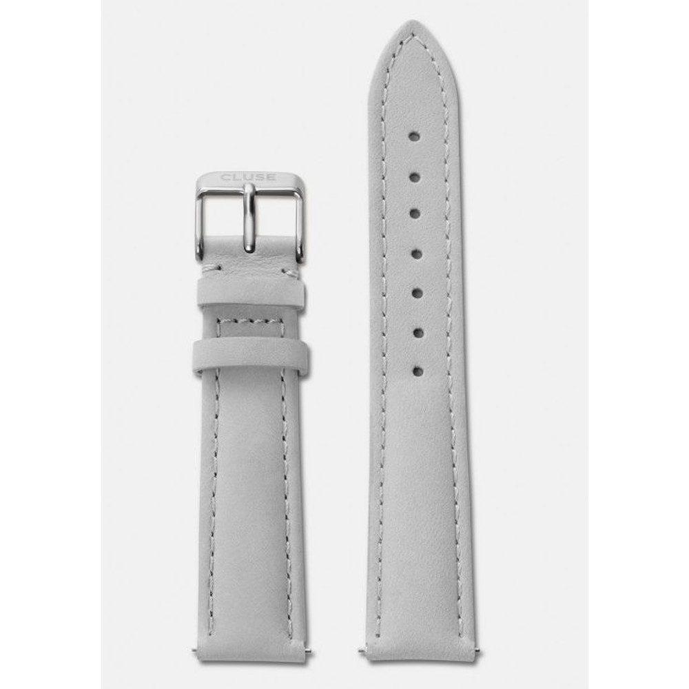 La Boheme Leather Strap - Grey & Silver