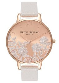 Olivia Burton Lace Detail Watch - Blush & Rose Gold