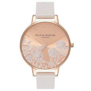 Lace Detail Watch - Blush & Rose Gold