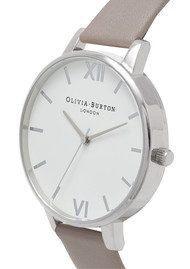 Olivia Burton Big Dial White Dial - London Grey & Silver