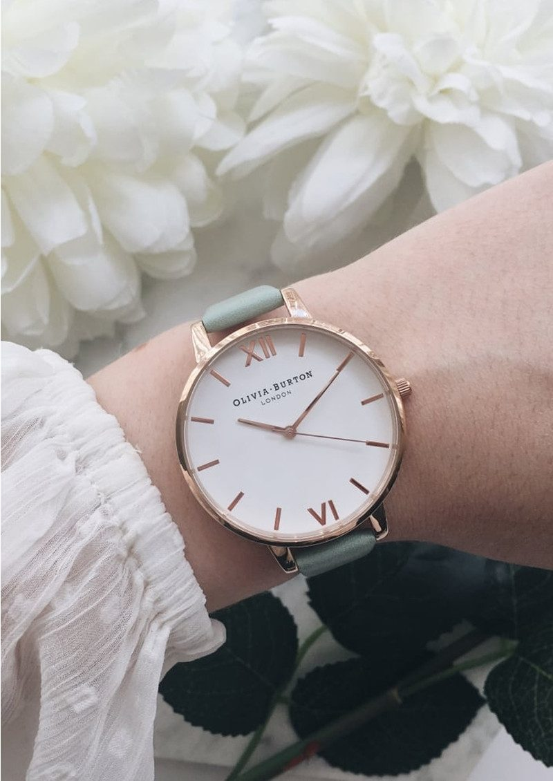 Olivia Burton Big Dial White Dial - Mint & Rose Gold main image