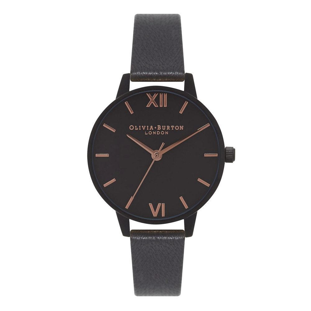 After Dark Watch - Matte Black & Rose Gold