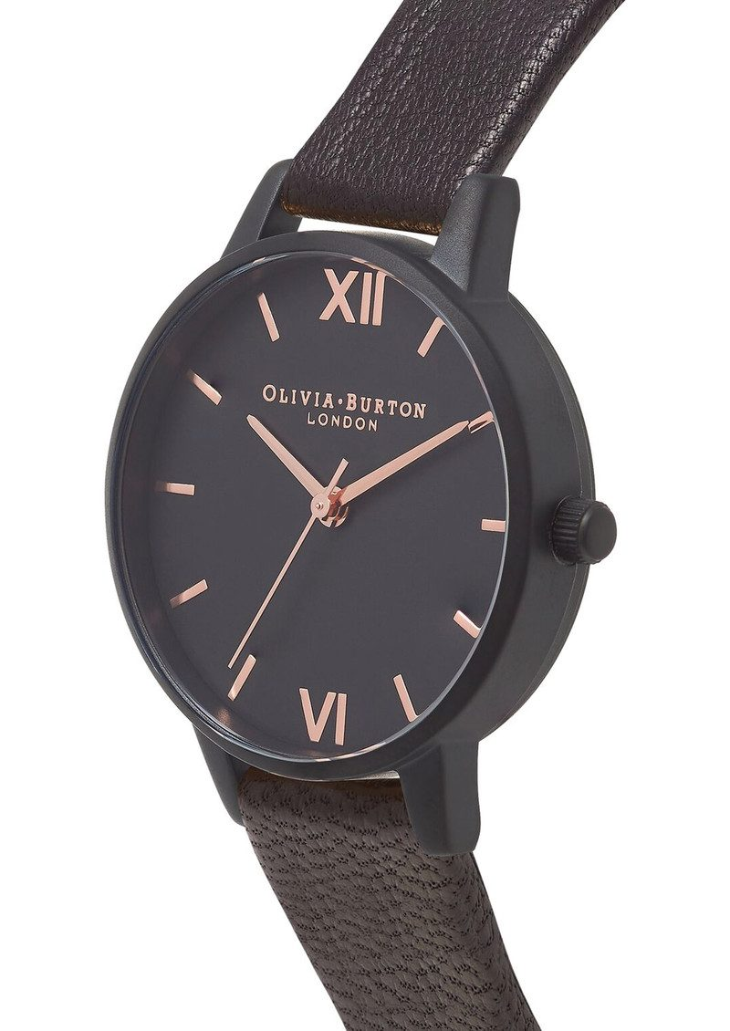 OLIVIABURTON After Dark Watch - Matte Black & Rose Gold main image