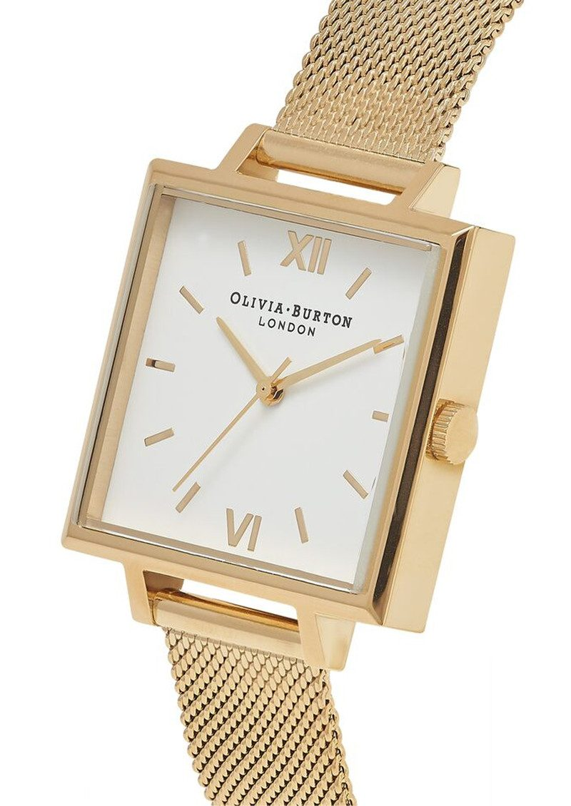 Olivia Burton Big Square Dial Watch - Gold Mesh main image