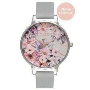 Vegan Friendly Enchanted Garden Watch - Grey & Silver