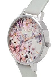 Olivia Burton Vegan Friendly Enchanted Garden Watch - Grey & Silver