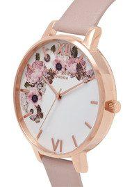 Olivia Burton Vegan Friendly Enchanted Garden Watch - Rose Sand & Rose Gold