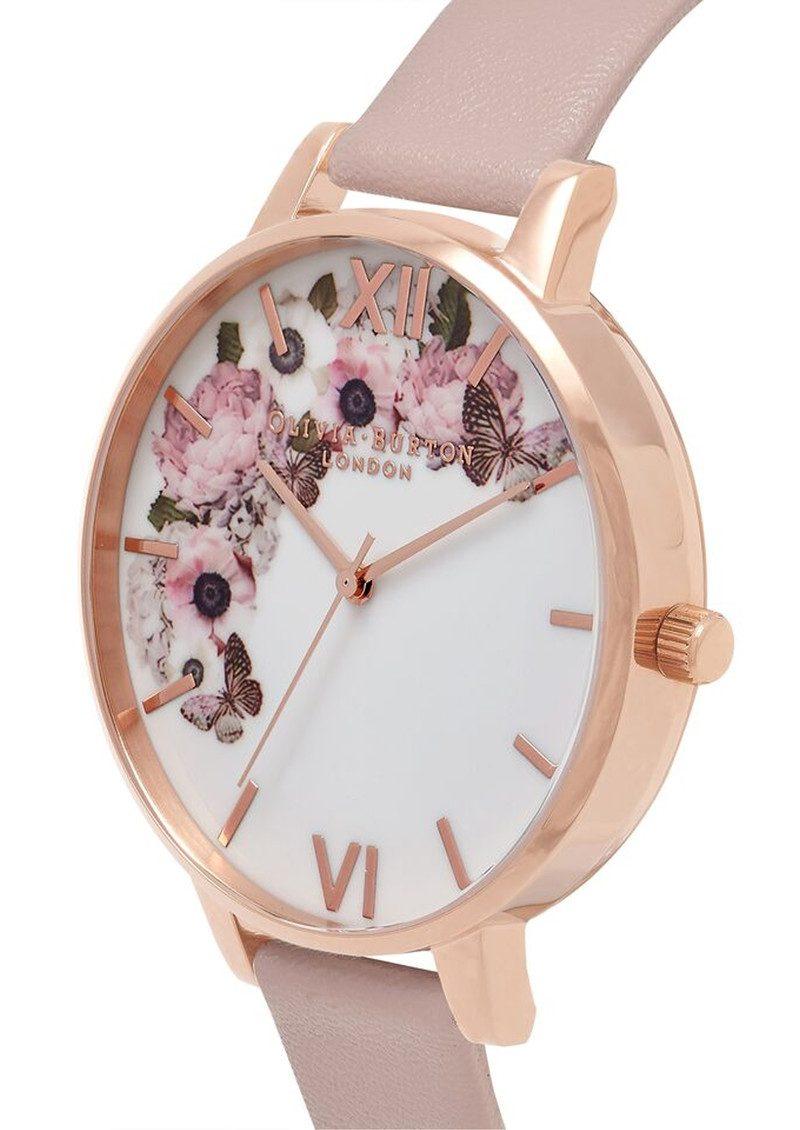 Olivia Burton Vegan Friendly Enchanted Garden Watch - Rose Sand & Rose Gold main image