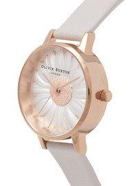 Olivia Burton Vegan Friendly Midi Moulded Daisy Watch - Grey & Rose Gold