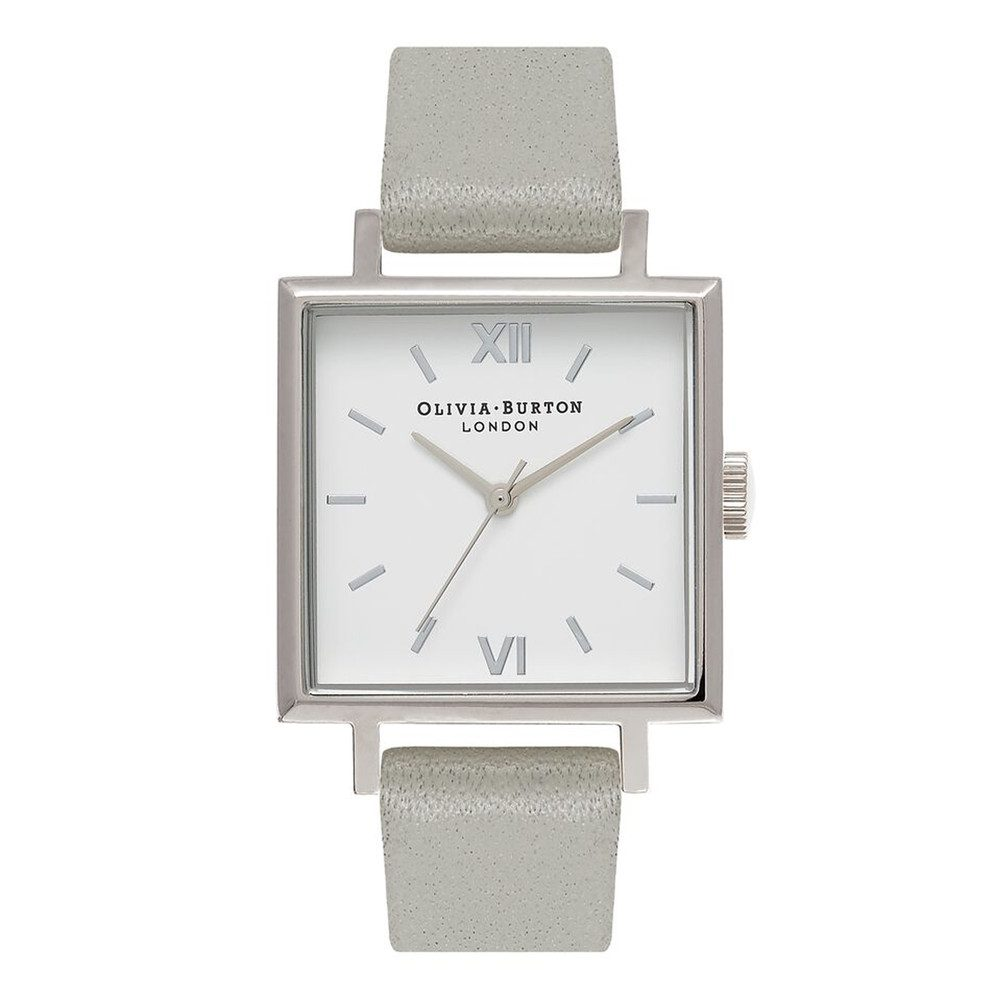 Big Square Dial Watch - Grey & Silver