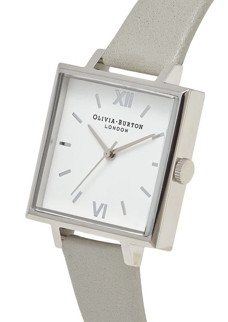 Big Square Dial Watch - Grey & Silver main image