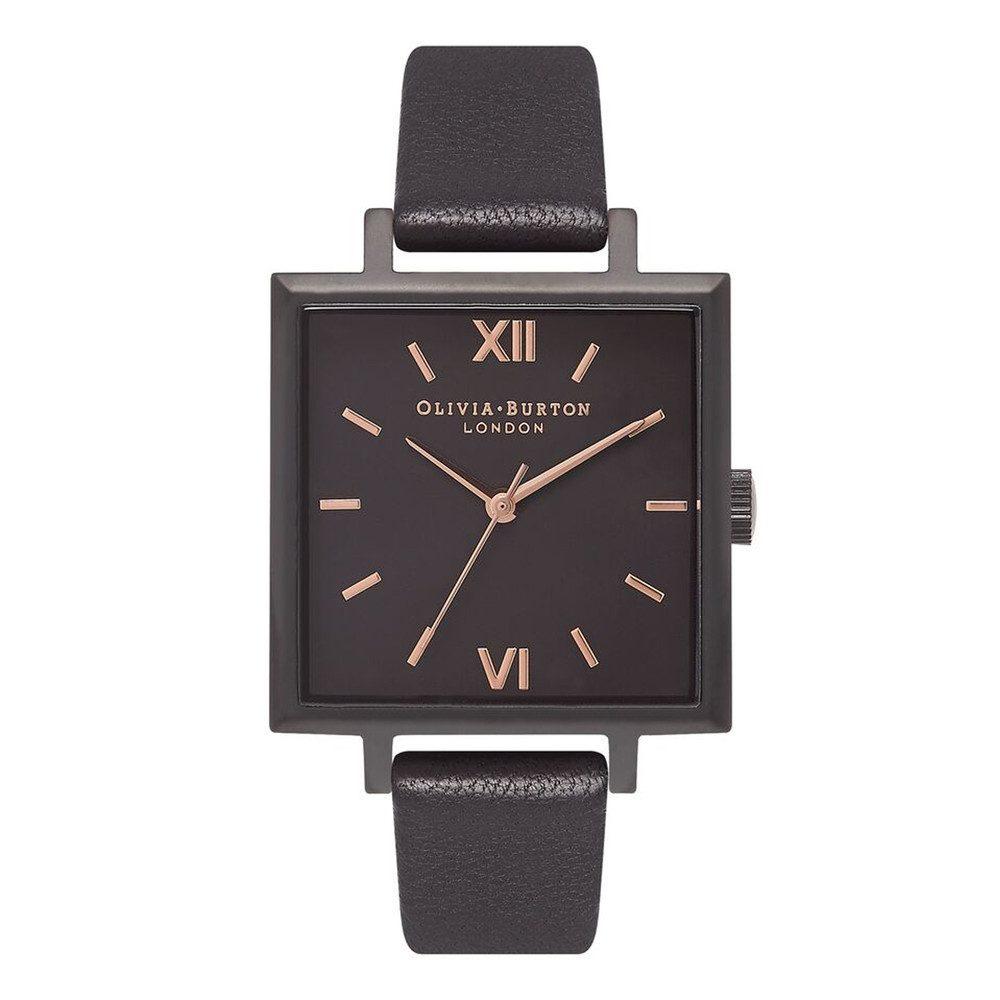 Big Square Dial Watch - Matte Black & Black