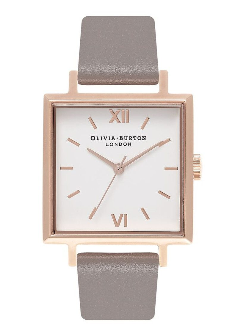 Big Square Dial Watch  - London Grey & Rose Gold main image