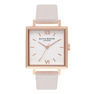 Big Square Dial Watch - Blush & Rose Gold