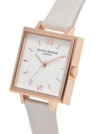 Olivia Burton Big Square Dial Watch - Blush & Rose Gold