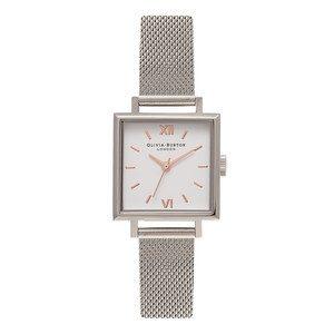 Midi Square Dial Watch - Silver Mesh