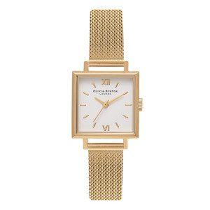 Midi Square Dial Watch - Gold Mesh