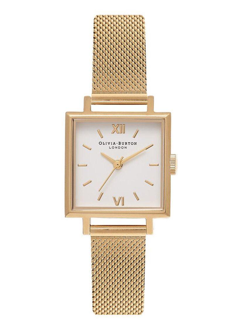 Olivia Burton Midi Square Dial Watch - Gold Mesh main image