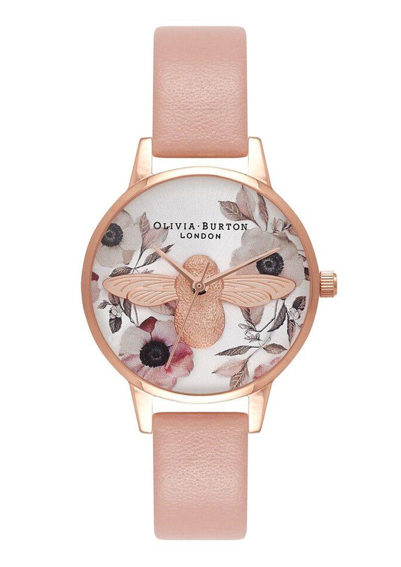 Olivia Burton Botanical 3D Bee Watch - Dusty Pink, Silver & Rose Gold main image