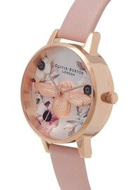Olivia Burton Botanical 3D Bee Watch - Dusty Pink, Silver & Rose Gold