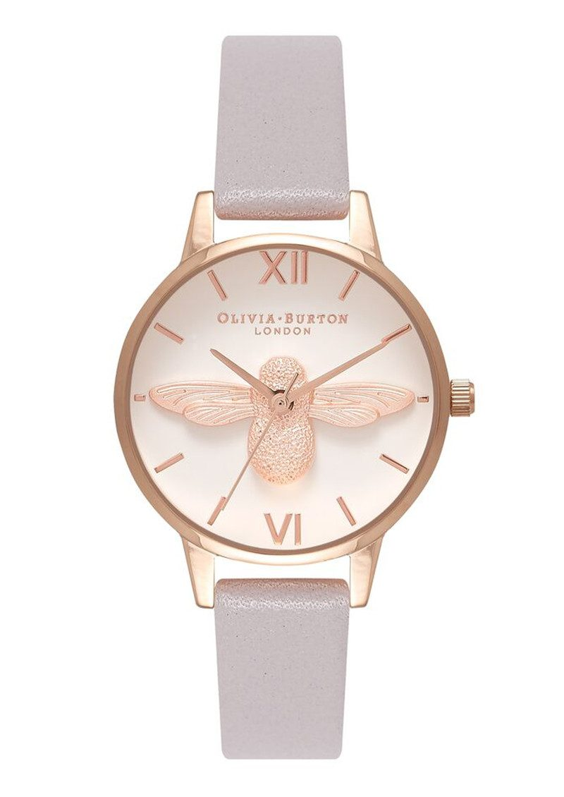 Olivia Burton Midi 3D Bee - Grey Lilac & Rose Gold main image