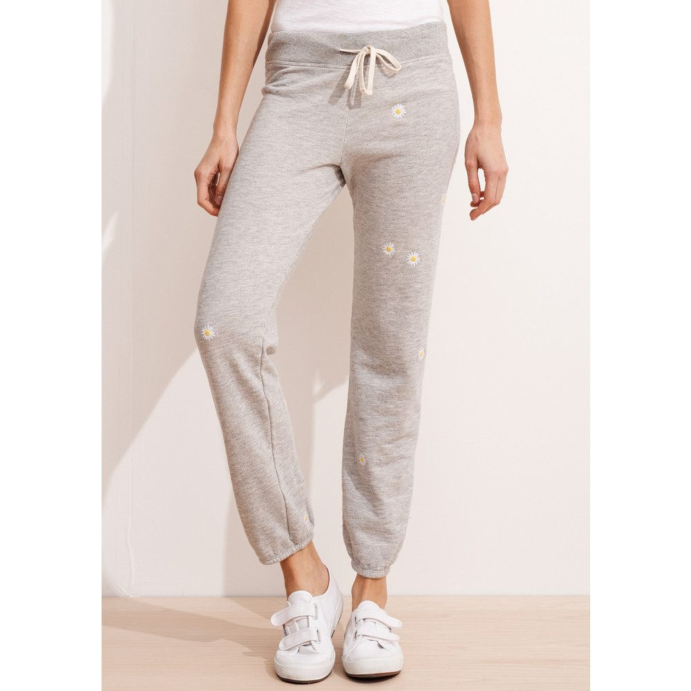 Daisy Patch Sweatpants - Heather Grey