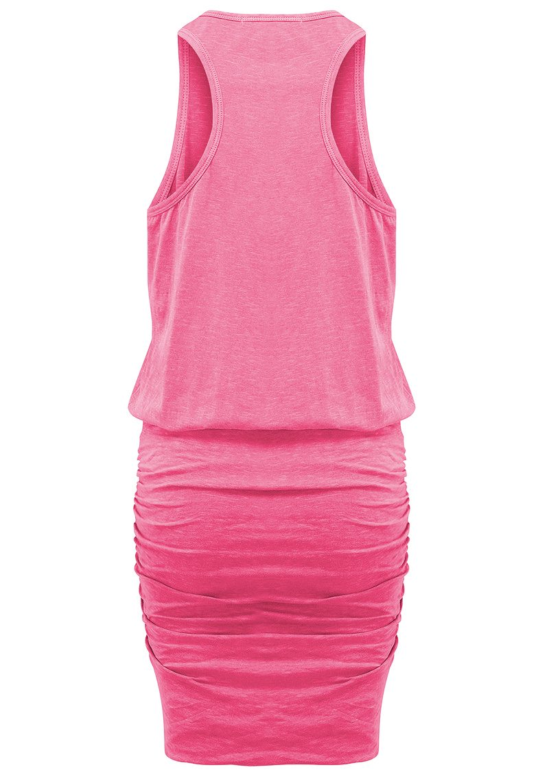 SUNDRY U Neck Dress - Peony Pigment main image